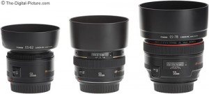 Canon-50mm-Lenses-With-Hoods