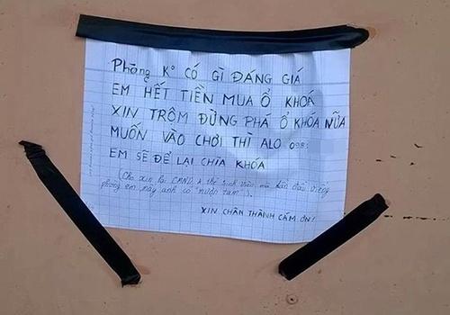 Những bức tâm thư gửi đến… kẻ trộm cực bá đạo của người Việt =)))