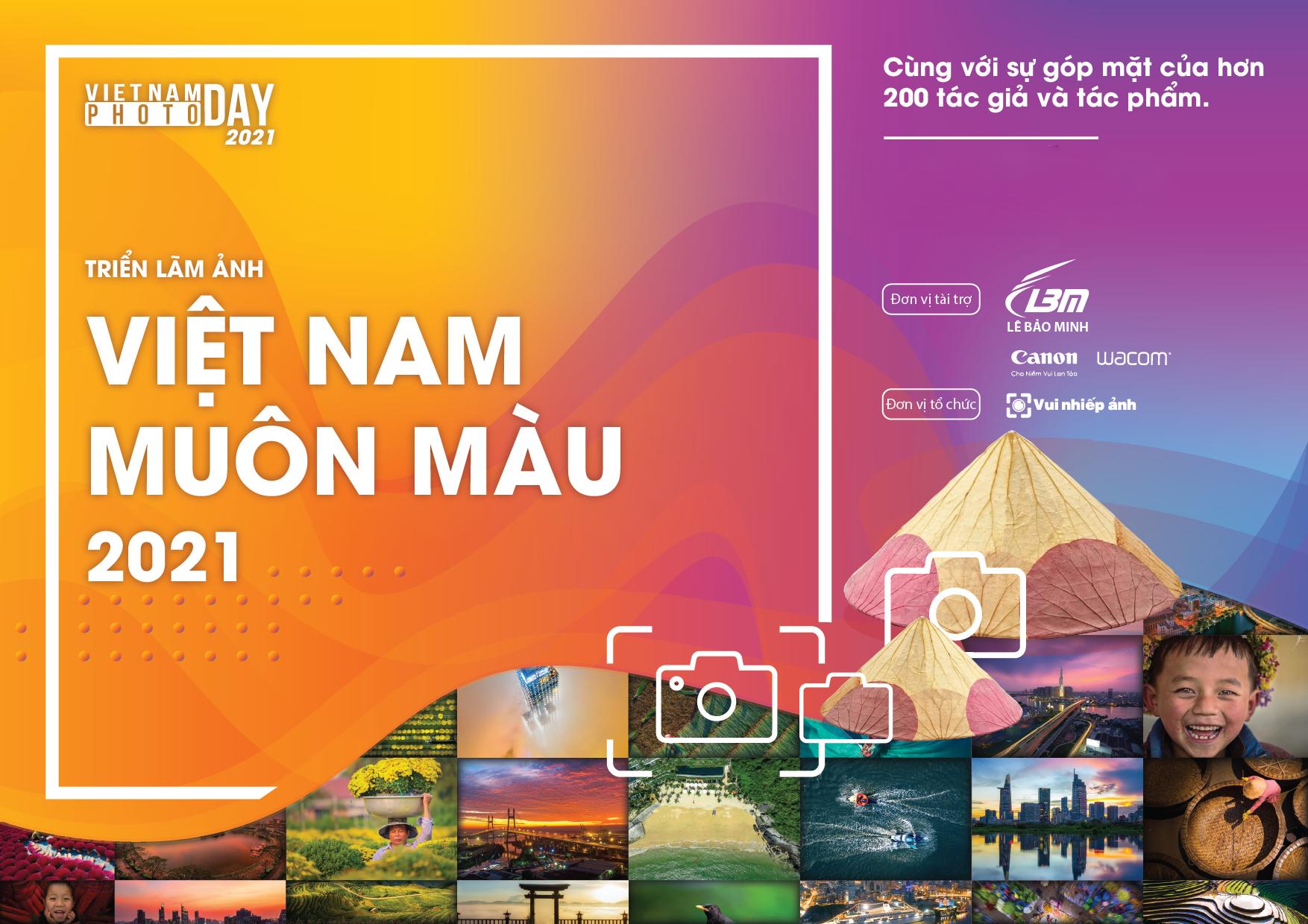 """Mời tham gia gửi ảnh triển lãm – chủ đề """"Việt Nam muôn màu"""" 2021"""